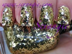 Milani Jewel FX Specialty Nail Lacquer 531 Gold @Milani Cosmetics I've always wanted to try this polish! Crazy glitter, I love it!