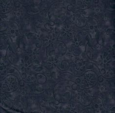 "108"" WIDE QUILT BACKING By The Yard: BLACK TONAL SCROLL 805TSW, 100% Cotton"