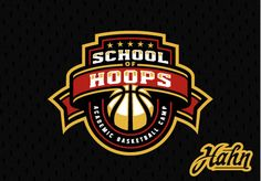 School of Hoops is an academic basketball camp for kids in Philadelphia to begin in the summer of The logo includes imagery that is reminiscent of a school crest. It is stylized in a way to give it both an athletic and academic feel. Logo Basketball, Basketball Design, Football Design, Basketball Floor, Gfx Design, Brand Design, Icon Design, St Logo, School Shirt Designs