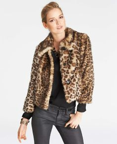 Animal Print: Enjoy 40% off everyhing for Trends with Benefits (use code TRENDS40) - Leopard Print Faux Fur Coat