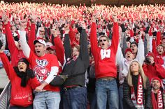 Badger fans celebrate Montee Ball's record-tying touchdown No. 77-highlight of my year so far