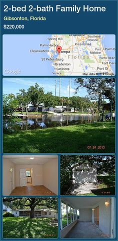 2-bed 2-bath Family Home in Gibsonton, Florida ►$220,000 #PropertyForSaleFlorida http://florida-magic.com/properties/31828-family-home-for-sale-in-gibsonton-florida-with-2-bedroom-2-bathroom