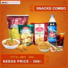 Finding healthy #breakfast  options was never so easy.Try Needs Snack's Combo offer today. YUMm...YUMmmm  - #SnacksCombo #ComboOffers -