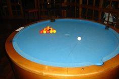 Como seria o jogo de sinuca em uma mesa redonda?