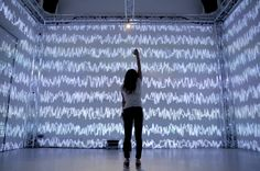Immersive projection mapping - controlling audiovisual features with body gestures.