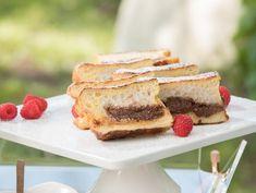 Get Chocolate Cheesecake-Stuffed French Toast Recipe from Food Network Giada De Laurentiis, Giada Recipes, Milk Recipes, Baking Recipes, French Toast, Italian Breakfast, Hazelnut Spread, Chocolate Cheesecake, French Cheesecake