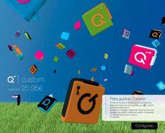 ¿Quieres personalizar tu Qbickey? No hay problema. Crea tu dispositivo de carga para smartphone de la forma que más te guste.