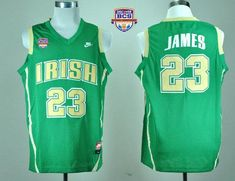 722eefa64 Fighting Irish  23 Lebron James Green Basketball 2013 BCS National  Championship Stitched NCAA Jersey