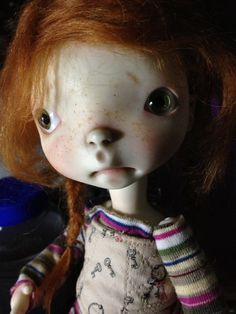 My cutie pie Meek Sprocket, by artist Connie Lowe. I love her.