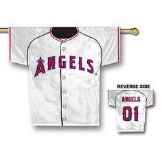 Anaheim Angels MLB Jersey Banner 34x30 2-sided