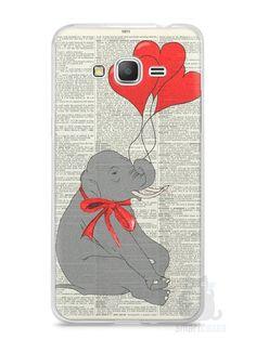 Capa Samsung Gran Prime Elefante e Corações - SmartCases - Acessórios para celulares e tablets :)