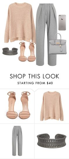 """Untitled #36"" by deslightwood ❤ liked on Polyvore featuring Stuart Weitzman, MANGO, Vika Gazinskaya and Hermès"