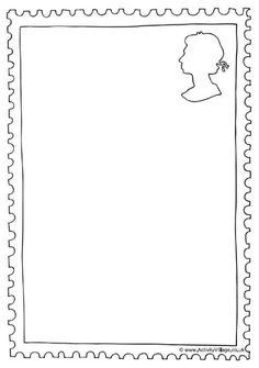 craft templates for kids postage stamp for kids pictures and stamps. Black Bedroom Furniture Sets. Home Design Ideas