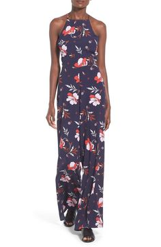 ASTR Cross Back Wide Leg Jumpsuit available at #Nordstrom