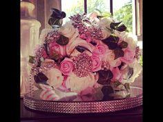 12inch artificial foam rose bridal brooch bouquet