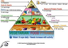 Vegetarian Food Pyramid - excellent for my vegetarian son