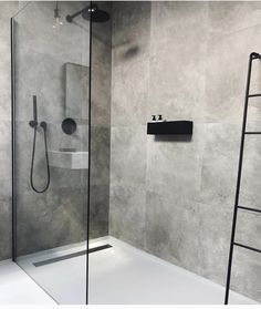 Cindy van der Heyden on Finally found the perfect bath shelf for our bathroom nichba_design Bathroom Layout, Modern Bathroom Design, Bathroom Interior Design, Bathroom Ideas, Bathroom Organization, Bathtub Ideas, Bathroom Storage, Bathroom Cabinets, Bathroom Showers