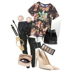 A fashion look from December 2014 featuring adidas t-shirts, Balmain pants and Gianvito Rossi pumps. Browse and shop related looks.
