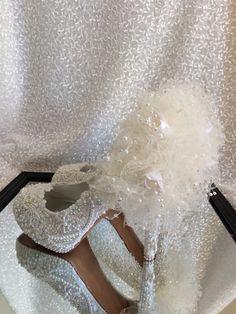 Custom Made Wedding Bridal Shoes Rhinestones Pearls Lace