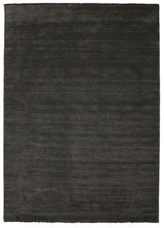 Χειροκίνητου αργαλειού fringes - Μαύρα/Γκρι χαλι 250x350