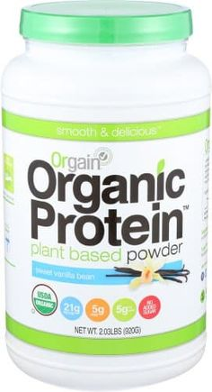 Orgain Organic Protein Powder Vegan Plant Based Creamy Chocolate Fudge NEW Protein Powder Reviews, Organic Protein Powder, Plant Based Protein Powder, Whey Protein For Women, Best Whey Protein, Protein Mix, Protein Power, Shakeology Substitute, Shakeology Alternative
