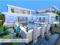 Escape house by Torque at TSR via Sims 4 Updates