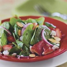 Try this strawberry-spinach salad for an tasty twist on an easy summertime meal.