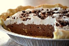 Low Carb French Silk Chocolate Pie -- use this as an idea for other pies Chocolate Fudge Pie, Chocolate Pie Recipes, Sugar Free Chocolate, Silk Chocolate, Sugar Free Desserts, Healthy Desserts, Just Desserts, Dessert Recipes, Low Carb Deserts