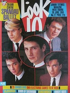Look-In Magazine 30th June 1984 - Spandau Ballet