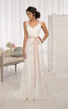 Vestidos De Noiva Romantic 2015 Wedding Dress Backless Spaghetti Appliques Chapel Train Custom Made Inspired By Fashion Week -in Wedding Dresses from Weddings & Events $229.00 on Aliexpress.com   Alibaba Group