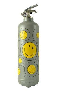 FIRE SMILEY CIRCLES gris - FIRE DESIGN + QU'UN EXTINCTEUR-SECURITE INCENDIE-EXTINCTION-DECORATION