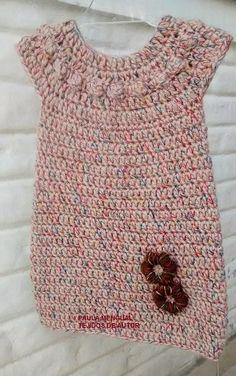 Vestido canesu redondo   Este vestido comenzó como un chaleco, era la idea inicial, pero después pensé en la alternativa de tejer un poco ...