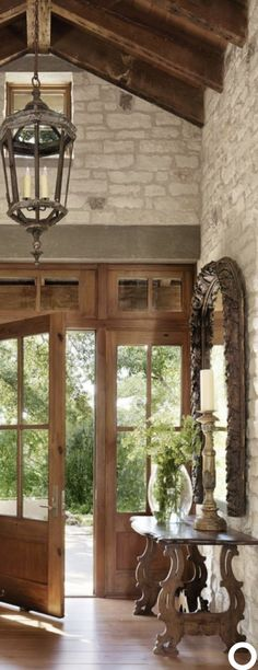 Farmhouse Foyer Lighting Entryway Entry Ways Ideas Farmhouse Foyer Lighting. Farmhouse Foyer Lighting Entryway Entry Ways Ideas Farmhouse Foyer Lighting Entryway Entry Way Tuscan Decorating, Foyer Decorating, Decorating Ideas, Style At Home, Chaise Baroque, Tuscan House, Wood Beams, Rustic Elegance, Rustic Elegant Home