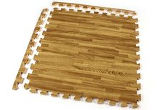 Premium Soft Wood Tiles - Interlocking Foam Mats