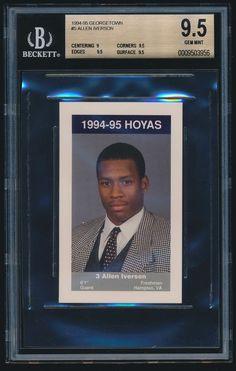 1994-95 Georgetown Hoyas Police rookie #5 Allen Iverson rc BGS 9.5 1st card #GeorgetownHoyas