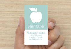 Teacher Business Card - Modern                                                                                                                                                      Más