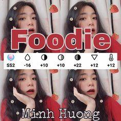 Công thức màu #Foodie nha  Dâu kia thì nhiều app lắm Inshot PicsArt... Cre: Minh Hương Vsco Photography, Photography Filters, Photography Editing, Artistic Photography, Lightroom, Photoshop, Photo Editing Vsco, Creative Instagram Stories, Image Processing
