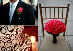 black and coral wedding - Google Search