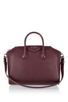 e081720cf548 Givenchy - Medium Antigona bag in burgundy textured-leather. Burgundy Bag OxbloodPurple HandbagsPurple ...