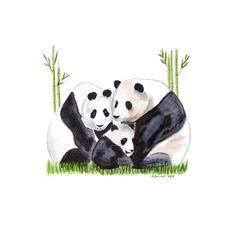 Panda Bear Art Panda Wall Art Panda Family Panda by TinyToesDesign