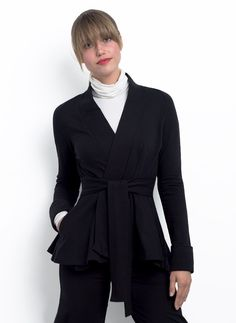 Analies peplum wrap jacket in bamboo and organic cotton french terry love this brand and this jacket