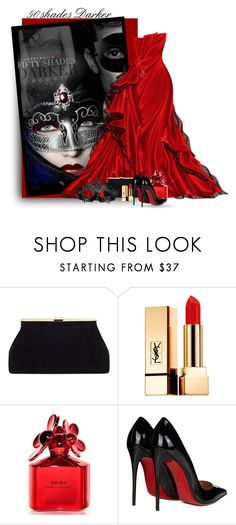 """""""50 Shades Darker"""" by flowerchild805 ❤ liked on Polyvore featuring Yves Saint Laurent, Marc Jacobs and Christian Louboutin"""
