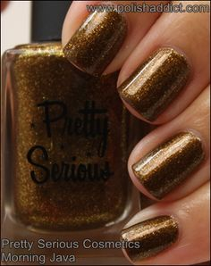 Pretty Serious Cosmetics Morning Java #nailpolish #swatches #prettyseriouscosmetics