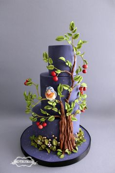 You want to bake a cake for a special event, you know that you're inventive, but you will need an original concept to use. Every party comprises a cake to be shared amongst your guests and family . It's convention to have a cake baked Gorgeous Cakes, Pretty Cakes, Amazing Cakes, Bolo Artificial, Spring Cake, Couture Cakes, Bird Cakes, Easy Cake Decorating, Novelty Cakes