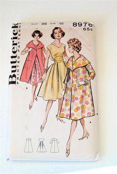 Vintage Coat and Dress Pattern, Uncut Butterick 8976