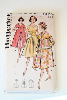 Hey, I found this really awesome Etsy listing at https://www.etsy.com/listing/129311364/vintage-coat-and-dress-pattern-uncut
