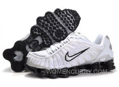 Discover the Men's Nike Shox TL Shoes White/Black/Silver Discount group at Jordany. Shop Men's Nike Shox TL Shoes White/Black/Silver Discount black, grey, blue and more. Get the tones, gat what is coming to one the features, earn the look! Puma Shoes Online, Jordan Shoes Online, Michael Jordan Shoes, Air Jordan Shoes, Mens Nike Shox, Nike Men, Silver Tops, Black Silver, Tennis