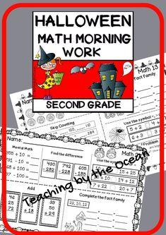 Mental Maths Worksheets, 2nd Grade Worksheets, Math Resources, Halloween Math, Halloween Activities, Subtraction Activities, Math Activities, Right Start Math, Daily Math