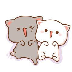 Cats For Adoption Cute Anime Cat, Cute Bunny Cartoon, Cute Cartoon Images, Cute Couple Cartoon, Cute Kawaii Animals, Cute Animal Drawings Kawaii, Cute Cartoon Drawings, Cute Love Cartoons, Cute Cat Gif
