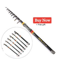 High Quality Portable Telescopic Carbon Fishing Rod